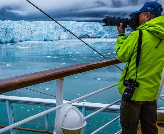 Bacons Alaska Cruise - photography moment