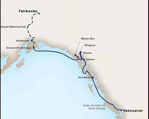 Tim's Alaska Itinerary Map